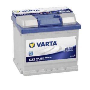 Batería Varta C22 52AH 12 V 470A