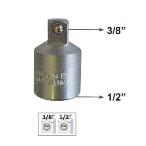 JBM Adaptador de 1/2″h a 3/8″m – 50508
