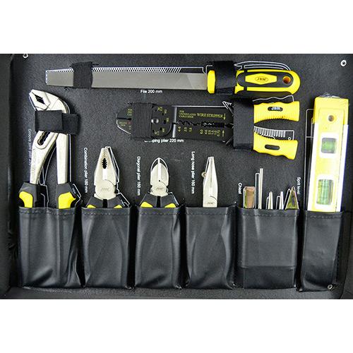 JBM Caja de herramientas aluminio 159 piezas 53159