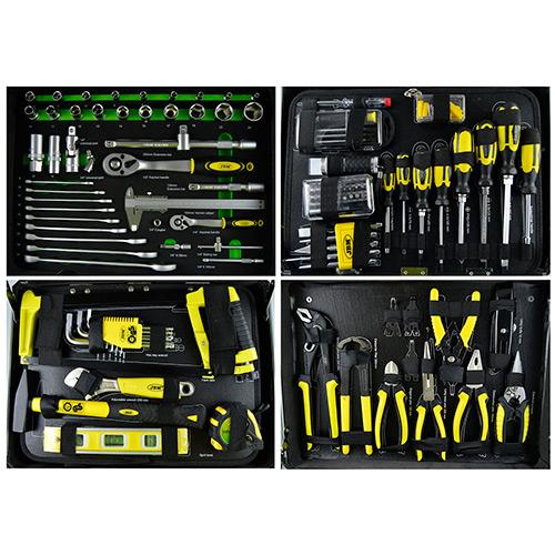 JBM Caja de herramientas aluminio 198 piezas 53160