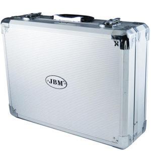 JBM Caja de herramientas de aluminio 108 piezas vasos 1/2″ – 53444