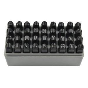 JBM Conjunto de matrices letras y números 8mm – 53119
