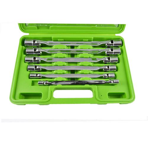 JBM Estuche con 6 llaves de vaso de 12 cantos articuladas 51659