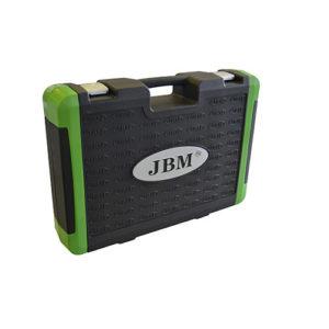 JBM Estuche de herramientas 113 piezas con vasos de 12 cantos – cromado – 52979