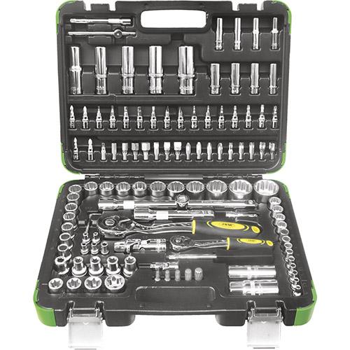 JBM Estuche de herramientas 113 piezas con vasos de 12 cantos - cromado 52979