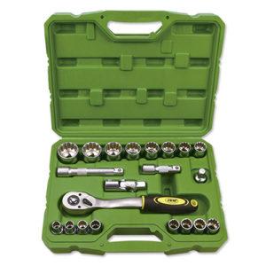 JBM Estuche de herramientas 21 piezas vasos de 12 cantos de 1/2″ – 52721