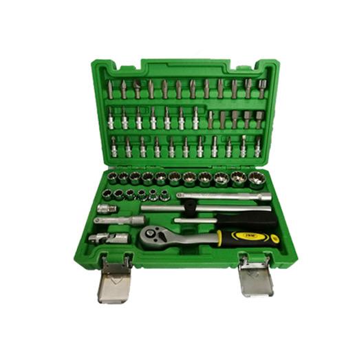 """JBM Estuche de herramientas 3/8"""" de 59 piezas con vasos de 12 cantos 51820"""