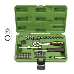 JBM Estuche de herramientas 36 piezas vasos spline de 1/4″ – 52720