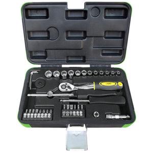 JBM Estuche de herramientas 36 piezas vasos spline de 1/4″ – 53107
