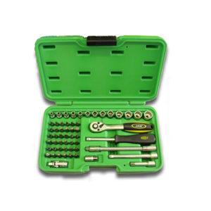 JBM Estuche de herramientas de 56 piezas con vasos de 12 cantos – 51892