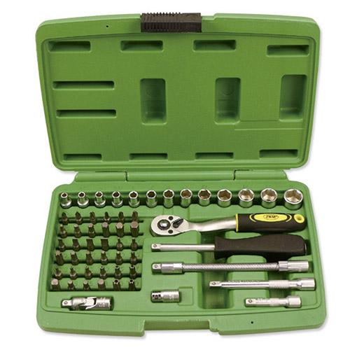 JBM Estuche de herramientas de 56 piezas con vasos hexagonales 50566