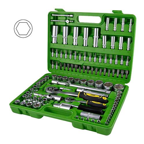 JBM Estuche de herramientas de 108 piezas con vasos hexagonales 50521
