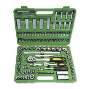 JBM Estuche de herramientas de 113 piezas vasos de 12 cantos – 50791