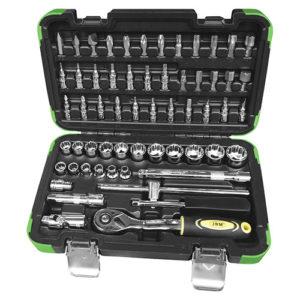 JBM Estuche de herramientas de 3/8″ de 59 piezas con vasos de 12 cantos – 53075