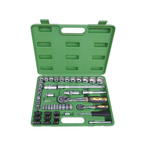 JBM Estuche de herramientas de 74 piezas con vasos de 12 cantos 51316