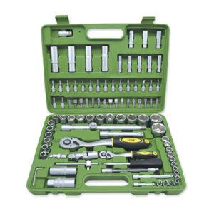 JBM Estuche de herramientas de 94 piezas con vasos hexagonales – 50437