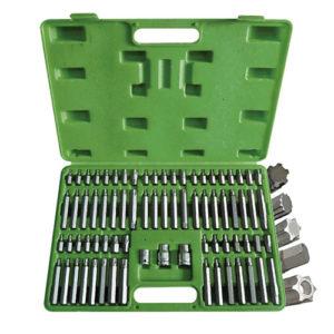JBM Estuche de puntas 75 piezas para tornillos ribe, 12 cantos, torx, torx inv., hexagonal – 52550