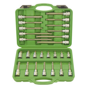 JBM Estuche de puntas para tornillos de 12 cantos 26 piezas – 52603