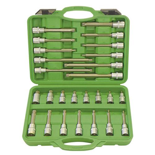 JBM Estuche de puntas para tornillos de 12 cantos 26 piezas 52603
