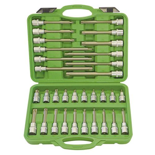 JBM Estuche de puntas para tornillos torx 32 piezas 52605