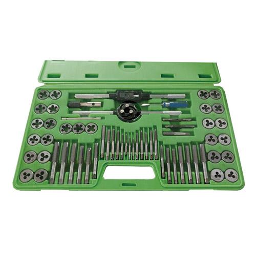 JBM Estuche métrico con 60 piezas de machos y terrajas 50793