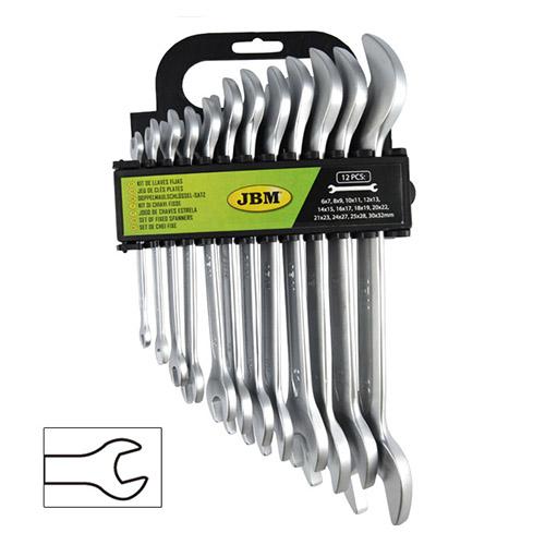 JBM Kit de 12 llaves fijas 51529