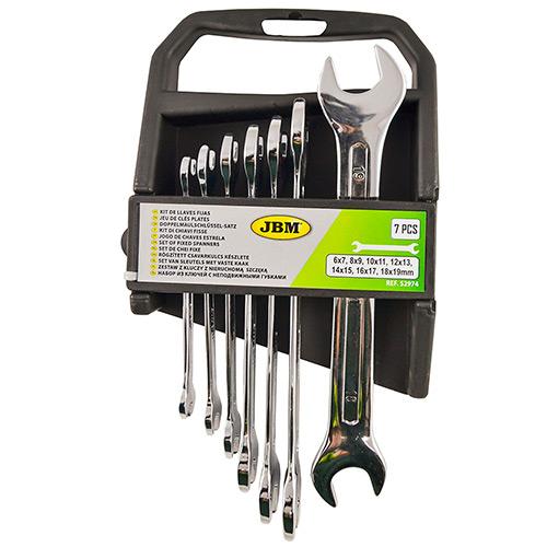 JBM Kit de 7 llaves fijas - acabado brillante 52974