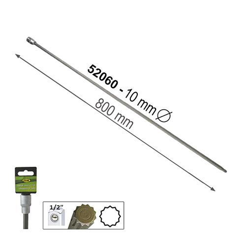 """JBM Punta extralarga de 12 cantos 800mm de 1/2"""" 10mm 52060"""