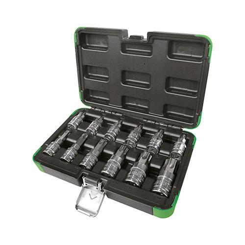 """JBM Set 12 piezas 1/2"""" punta torx 53103"""