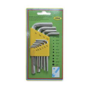 JBM Set de 10 llaves allen en pulgada – 51970