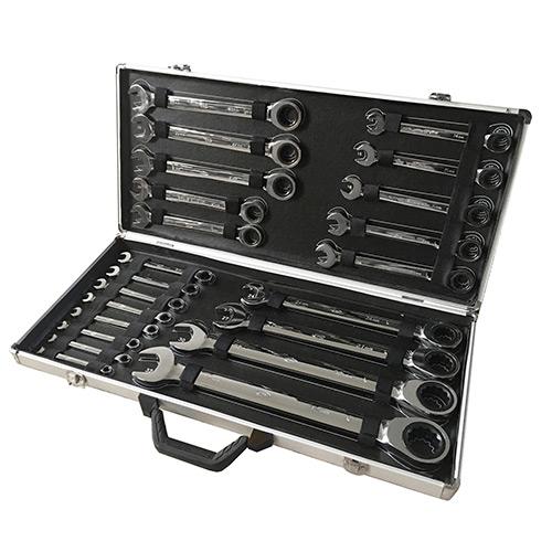 JBM Set de 22 llaves combinadas con trinquete 53020