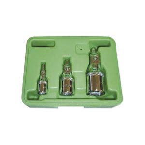 JBM Set de 3 adaptadores magnéticos de 1/4″, 3/8″ y 1/2″ – 51802