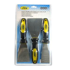 JBM Set de 3 espátulas de acero – 51951