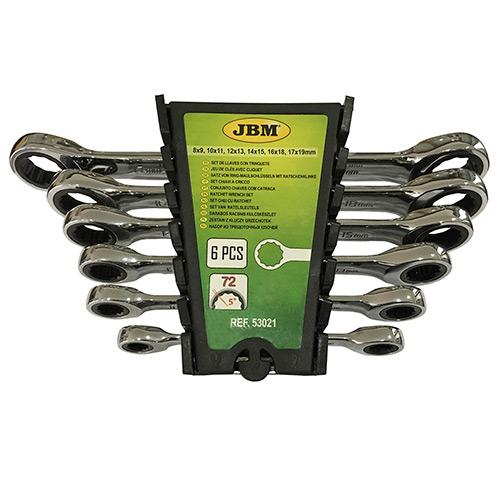 JBM Set de 6 llaves con trinquete 53021