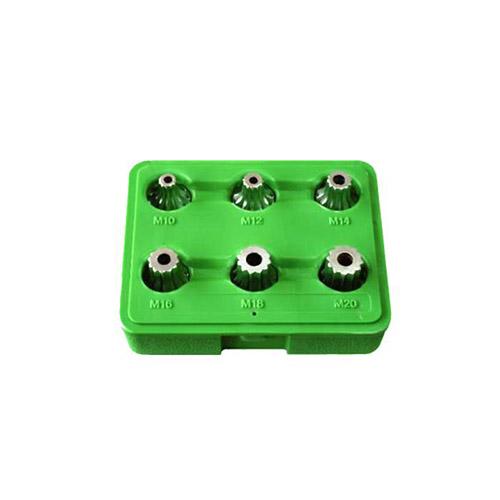 """JBM Set de 6 piezas de 1/2"""" punta 12 cantos inviolable / punta xzn 51409"""