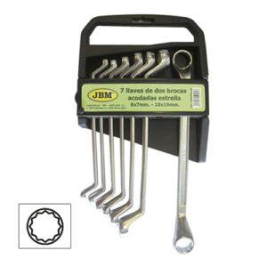 JBM Set de 7 llaves acodadas de 2 bocas estrella – 50562