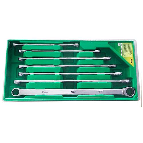 JBM Set de 7 llaves con trinquete extralargas 53019