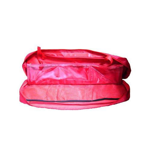 JBM Bolsa roja con 6 compartimentos y división para kit de emergencia 51680