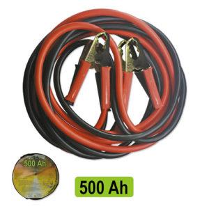 JBM Cable de arranque 50mm x2 / 3m con pinzas de latón – 52071