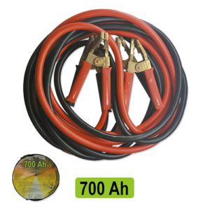 JBM Cable de arranque 70mm x2 / 7m con pinzas macizas de latón – 51239