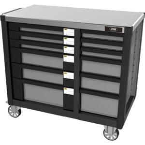 JBM Carro de herramientas 2 columnas, 12 cajones, con dotación – 53546
