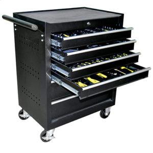 JBM Carro de herramientas 6 cajones negro – armado – 53195