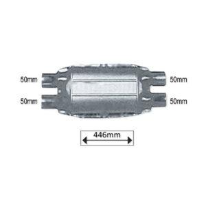 JBM Catalizador universal plano de 3.0cc hasta 7.0cc 2 entrad.+2 salidas – 51551