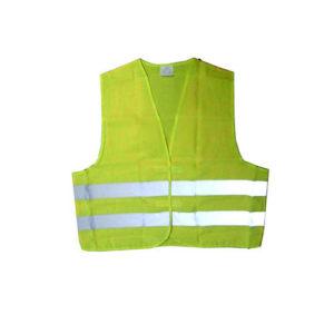 JBM Chaleco amarillo con banda reflectante marcada homologado – 51817