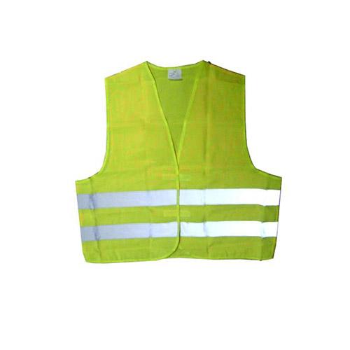 JBM Chaleco amarillo con banda reflectante marcada homologado 51817