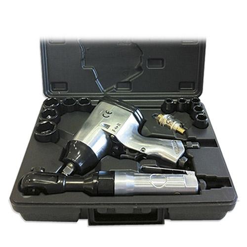 JBM Estuche de 16 piezas neumáticas con pistola y carraca impacto 52156