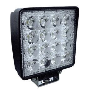 JBM Faro de trabajo de 16 LEDs 48w cuadrado luz dispersa – 53045