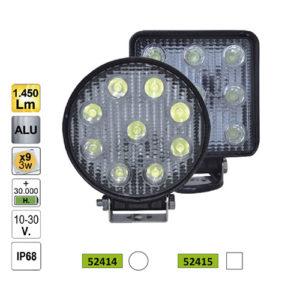 JBM Faro trabajo LED – cuadrado – 52415