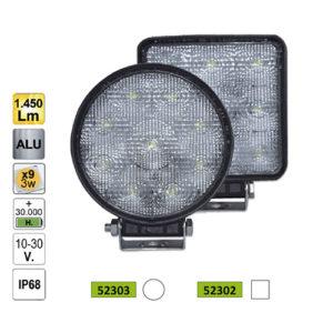 JBM Faro trabajo LED – redondo – 52303