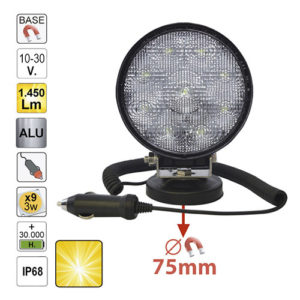 JBM Faro trabajo LED – redondo – 52567